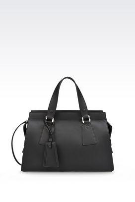 Armani Top handles Women medium le sac 11 bag in smooth calfskin