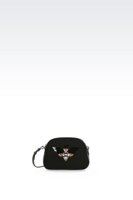 Armani Messenger bags Women runway cross body bag with embroidery