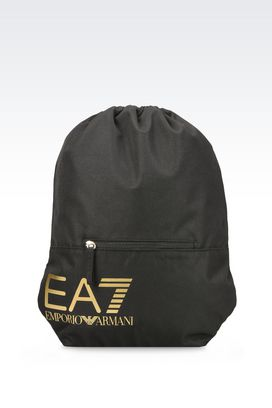 Armani Backpacks Women technical fabric sports bag