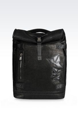 Armani Backpacks Men rucksack in calfskin