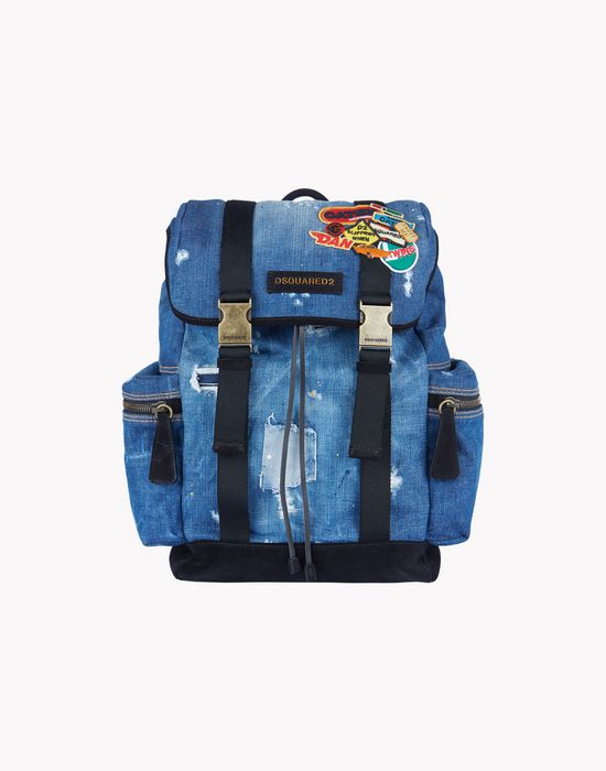 denim patch backpack bags Man Dsquared2