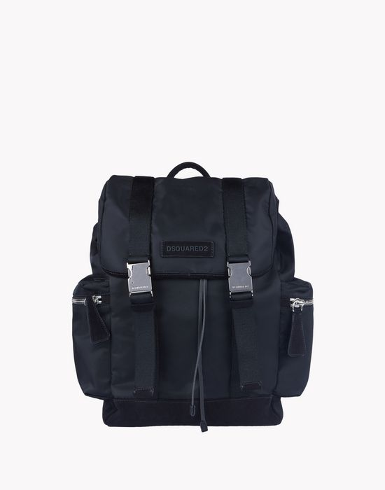 leather trimmed backpack taschen Herren Dsquared2