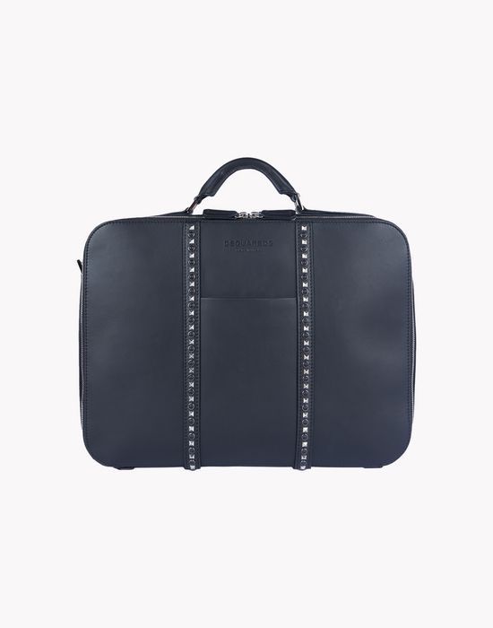 stud leather briefcase sacs Homme Dsquared2