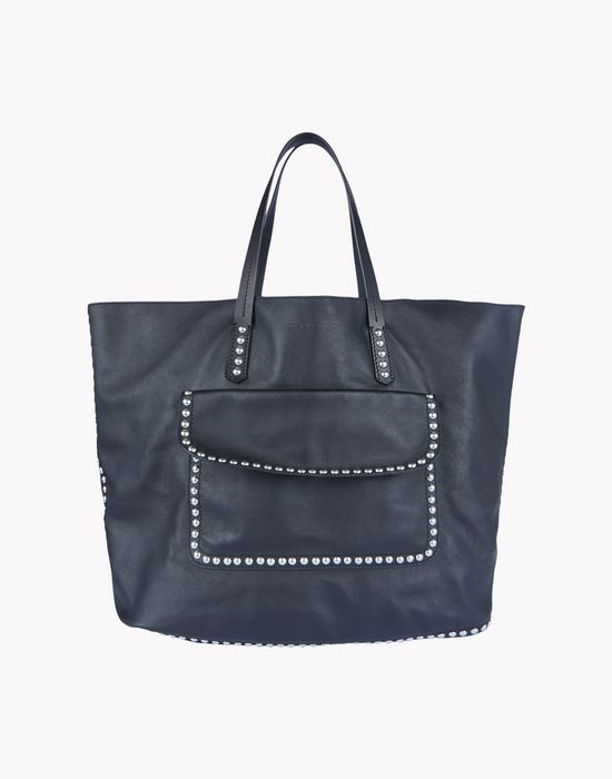leather studded tote handbags Man Dsquared2
