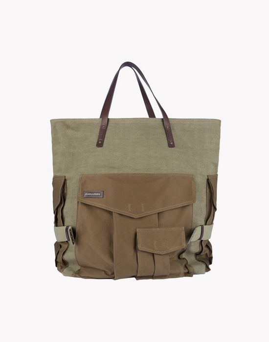 utilitarian canvas tote handbags Man Dsquared2