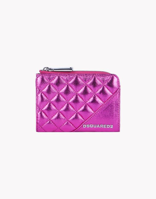 icon zip leather small wallet other accessories Woman Dsquared2