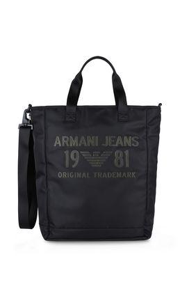 Armani Borse a tracolla Uomo borsa shopping in twill lucido
