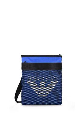 Armani Messenger bags Men flat lightweight fabric shoulder bag