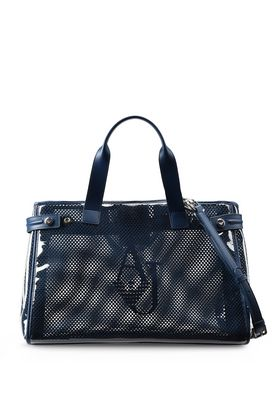 Armani Shopper Donna shopper in pvc e rete con tracolla