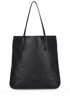Armani Shopper Donna borsa shopper con borchie a stella all over