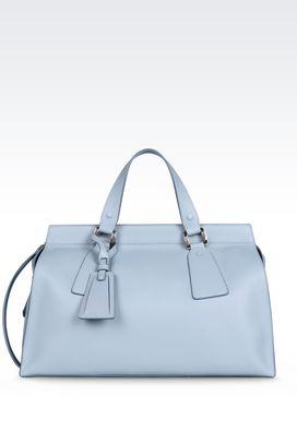 Armani Top handles Women large le sac 11 bag in deer grain calfskin