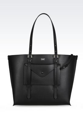 Armani Shoppers Women tote bag in boarded calfskin