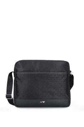 Armani Messenger bags Men technical jacquard messenger bag