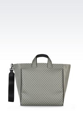 Armani Shopper Uomo shopping bag in tessuto con tracolla