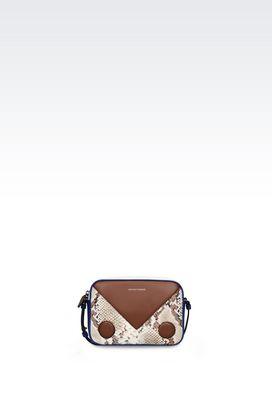Armani Borse a tracolla Donna mini bag in pelle stampa pitone