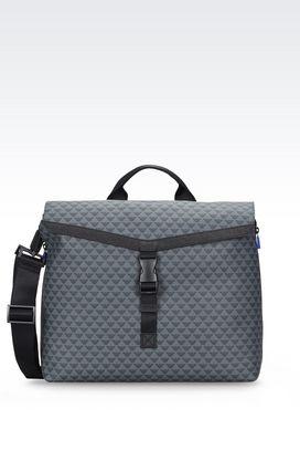 Armani Borse Briefcase Uomo borsa messenger in tessuto stampato con tracolla