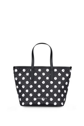 Armani Shopper Donna borsa shopper similpelle traforata a pois