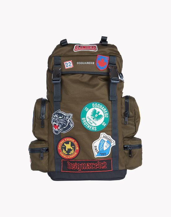 military patch akira backpack handbags Man Dsquared2
