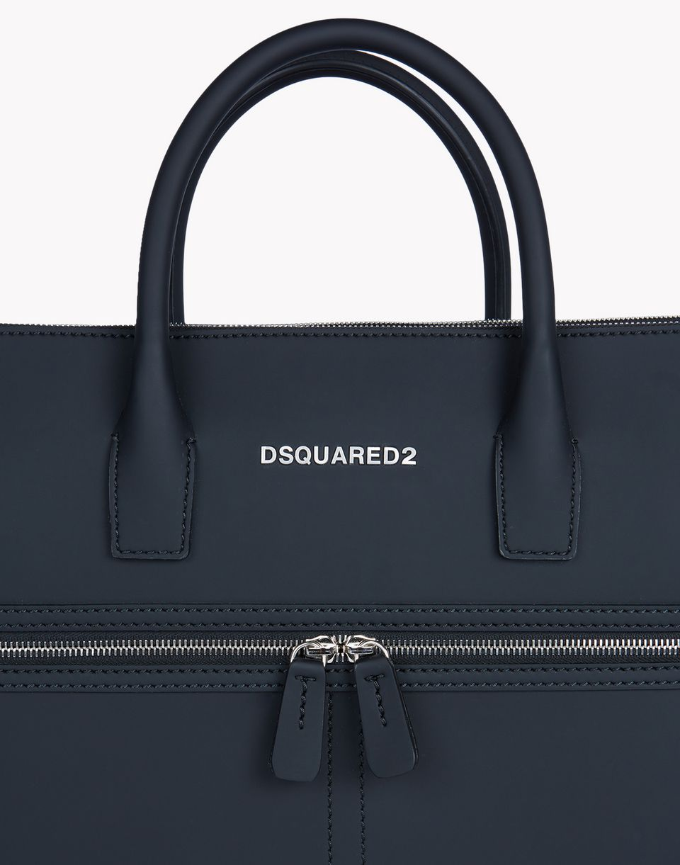 twin zip leather tote handbags Man Dsquared2