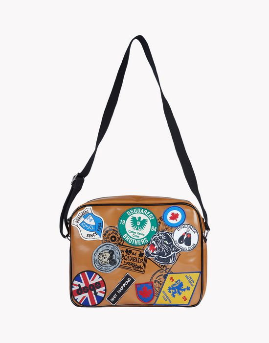 patch postman bag handbags Man Dsquared2