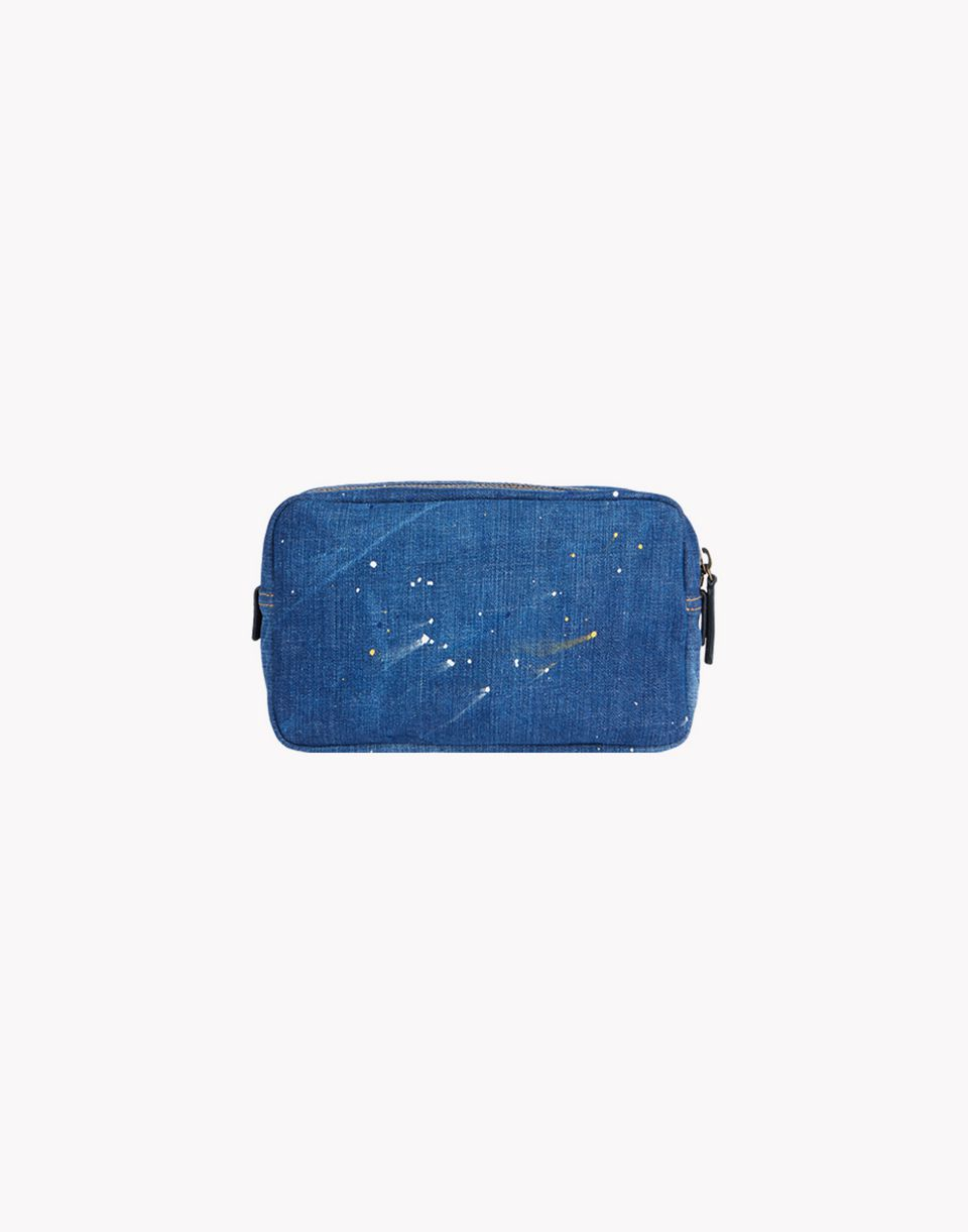 denim patch toiletry bag bags Man Dsquared2