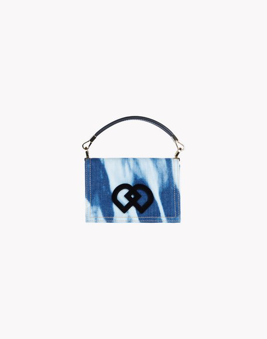 bleached denim dd bag handbags Woman Dsquared2