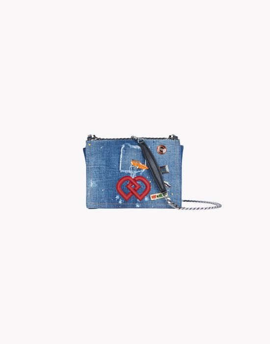pin denim dd clutch bolsos Mujer Dsquared2