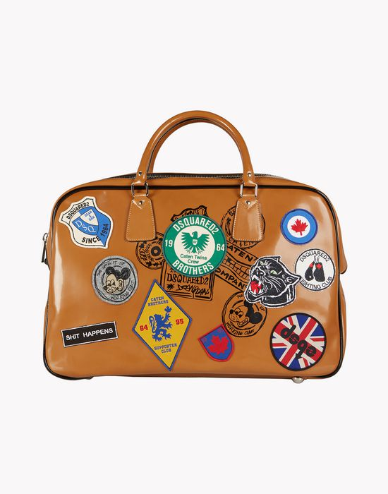 patch duffle bag bags Man Dsquared2