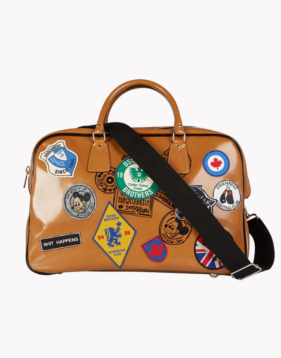 patch duffle bag bags Man Dsquared2