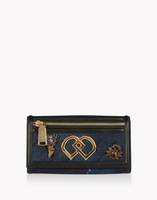 denim embellished dd wallet bags Woman Dsquared2