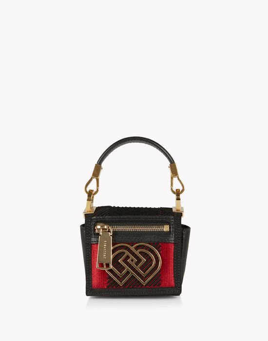 check mini dd handbag sacs Femme Dsquared2