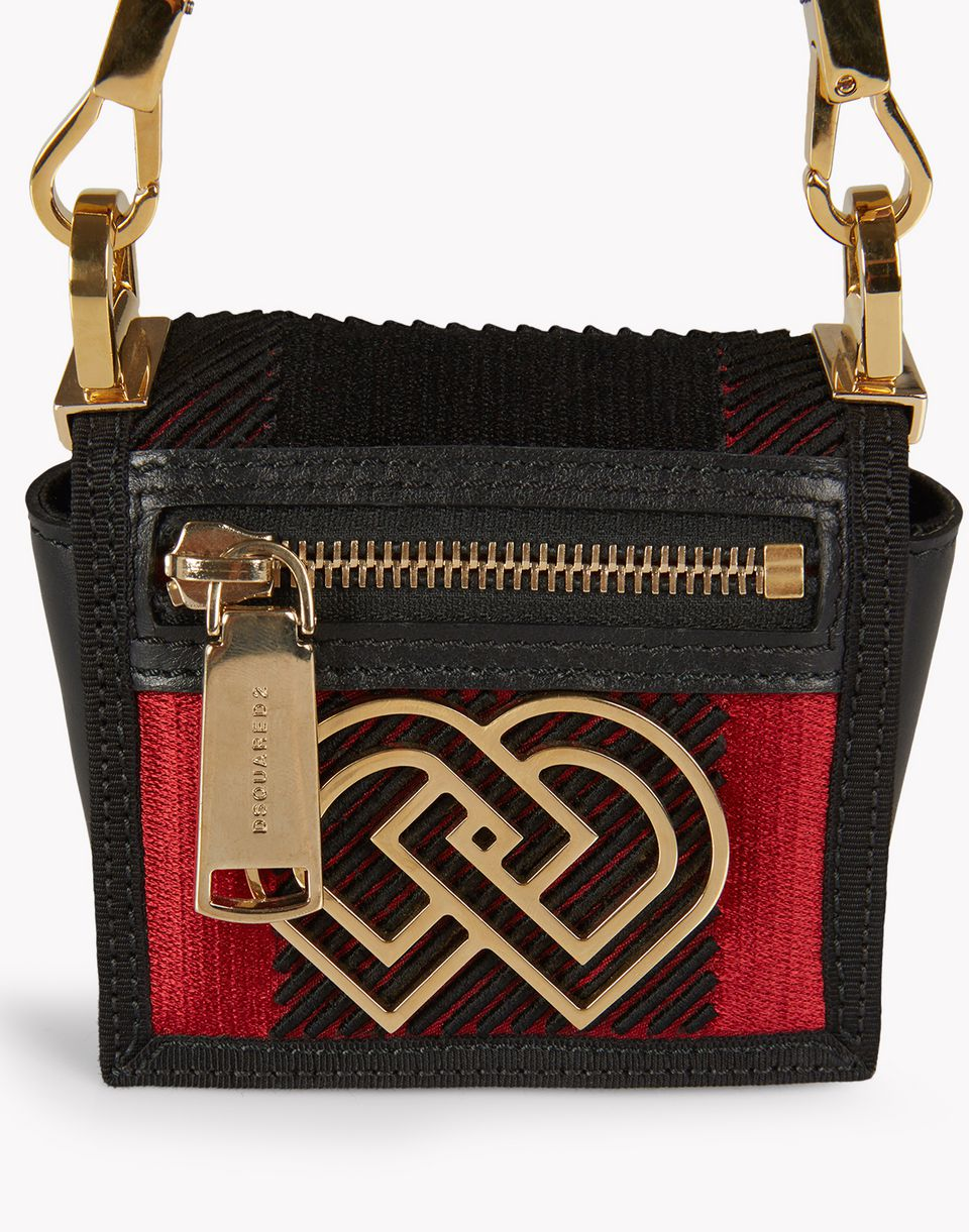 check mini dd handbag bags Woman Dsquared2
