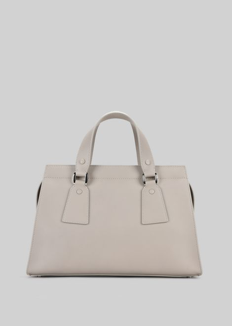 TOP HANDLE BAG IN VEGETABLE TANNED CALFSKIN: Top Handles Women by Armani - 4