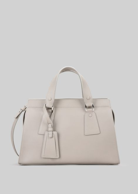 TOP HANDLE BAG IN VEGETABLE TANNED CALFSKIN: Top Handles Women by Armani - 1