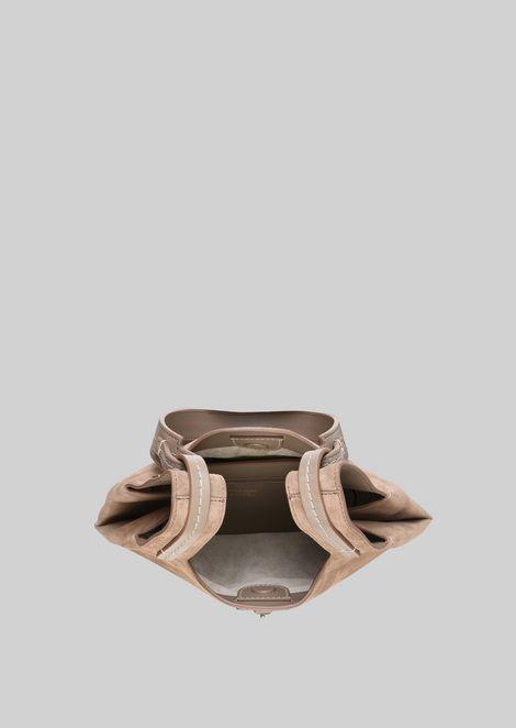 SHOULDER BAG IN SUEDE LEATHER: Shoulder Bags Women by Armani - 5
