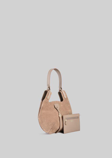 SHOULDER BAG IN SUEDE LEATHER: Shoulder Bags Women by Armani - 3
