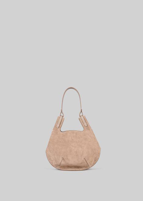 SHOULDER BAG IN SUEDE LEATHER: Shoulder Bags Women by Armani - 4