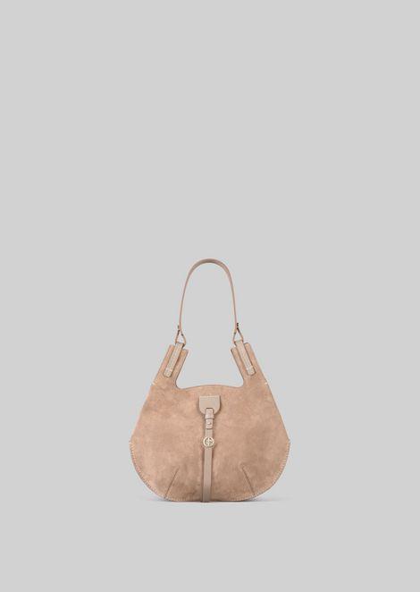 SHOULDER BAG IN SUEDE LEATHER: Shoulder Bags Women by Armani - 1