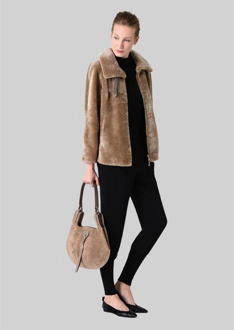 SHOULDER BAG IN SUEDE LEATHER: Shoulder Bags Women by Armani - 2
