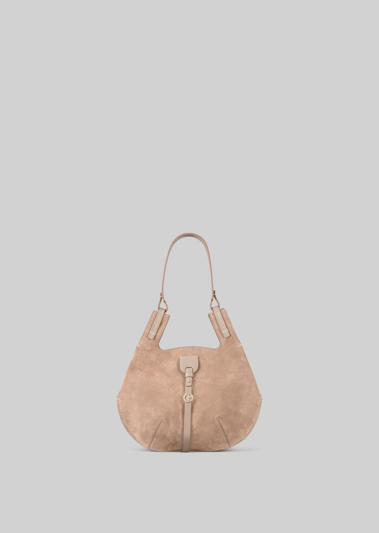 SHOULDER BAG IN SUEDE LEATHER: Shoulder Bags Women by Armani - 0