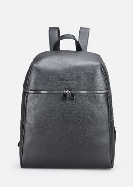 Armani Backpacks Men grainy leather backpack