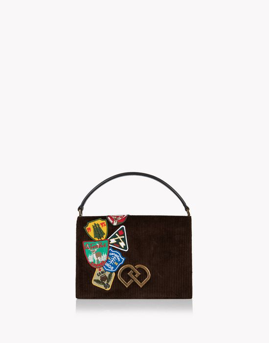 corduroy patch dd bag sacs Femme Dsquared2