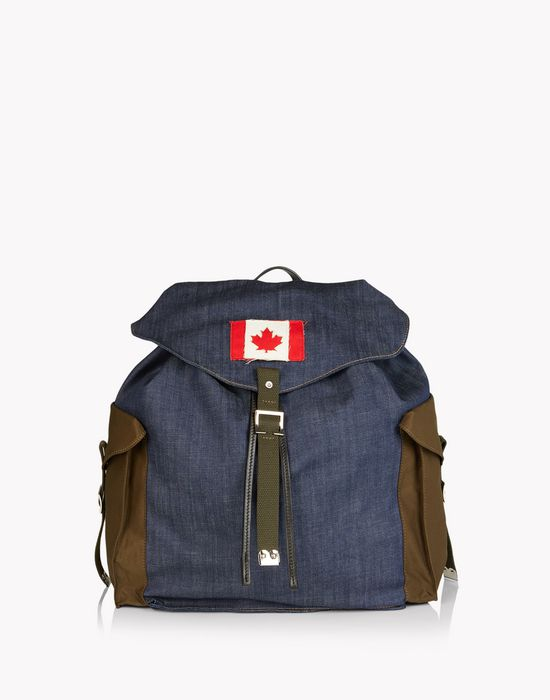 military denim mix backpack handbags Man Dsquared2