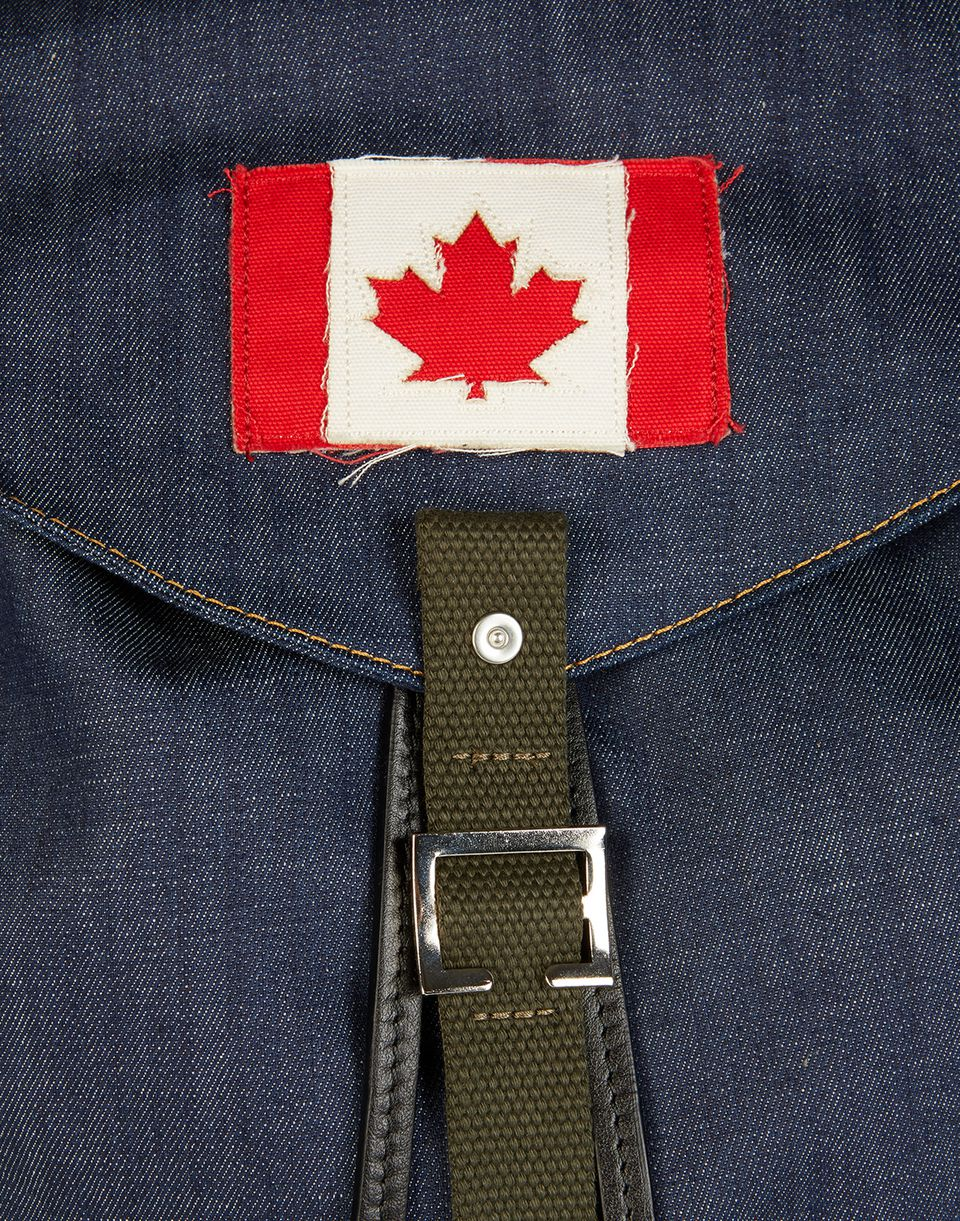 military denim mix backpack handbags Man Dsquared2