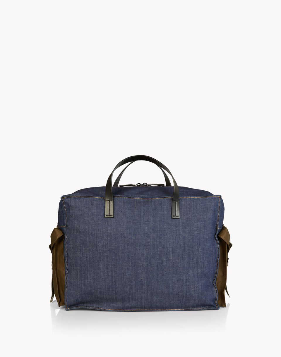 military denim mix duffle bag handbags Man Dsquared2