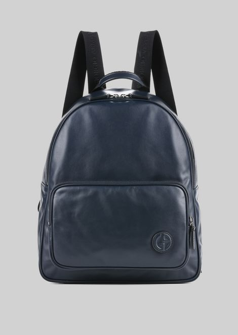 LEATHER BACKPACK   : Backpacks Men by Armani - 1