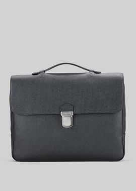 Armani Briefcases Men leather document holder with handle