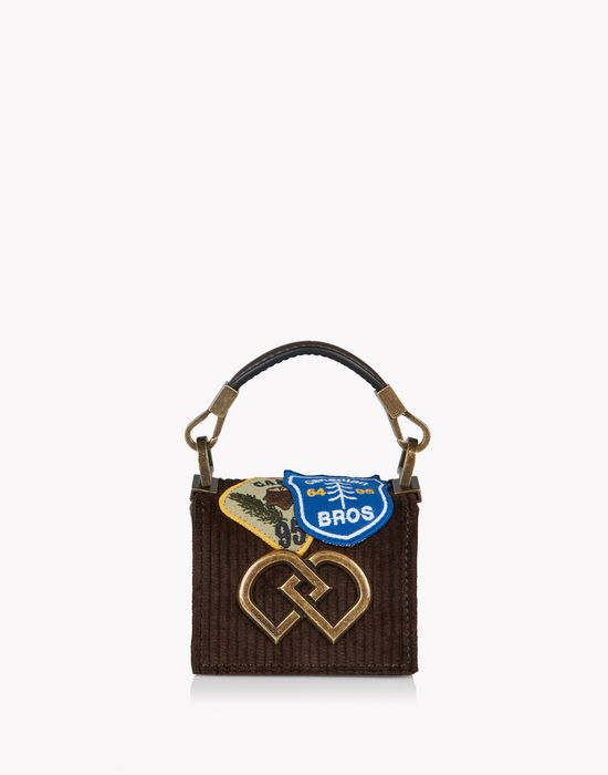 mini corduroy patch dd bag sacs Femme Dsquared2