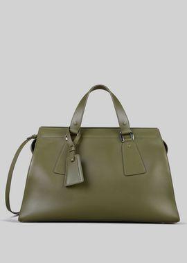 Armani Top Handles Women top handle bag in vegetable tanned calfskin