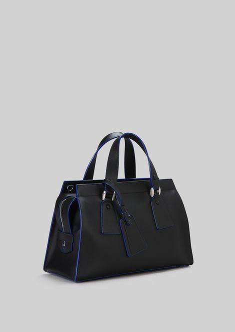 TOP HANDLE BAG IN VEGETABLE TANNED CALFSKIN: Top Handles Women by Armani - 3